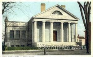 Pilgrim Hall Plymouth MA Unused