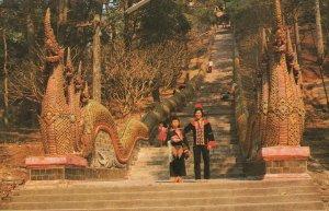 Doi Suthep Chiengmai Thai Hill Tribe Thailand Postcard