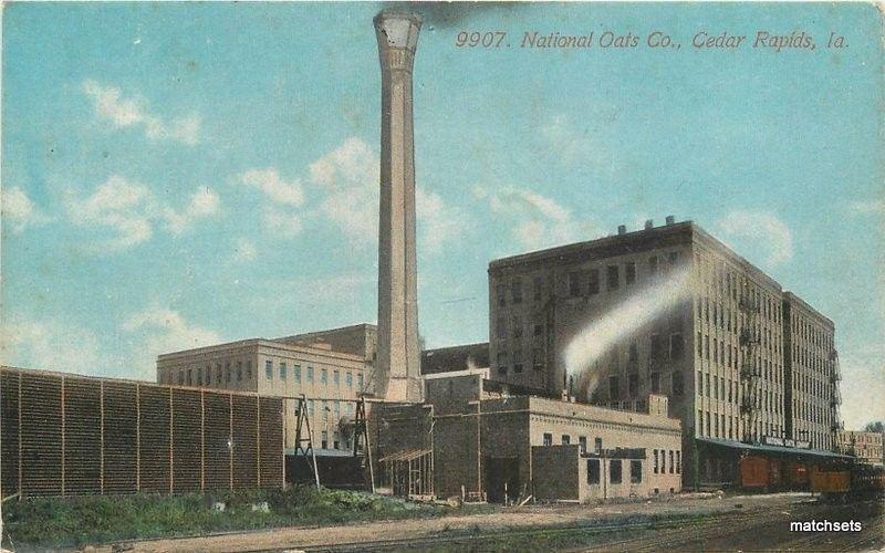 C-1910 Factory Industry National Oats Cedar Rapids Iowa Acmegraph 4419