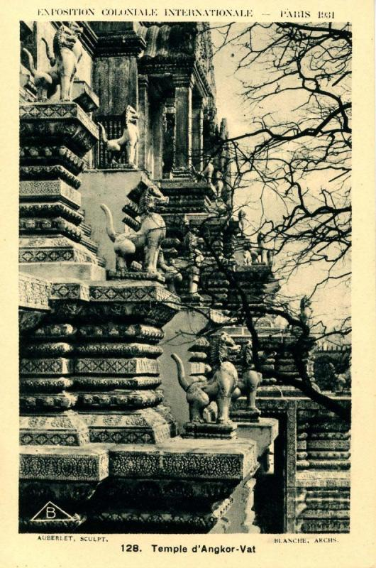 France - Paris, 1931 Exposition Coloniale International. Temple d'Angkor-Vat
