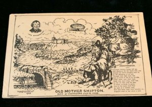 Old Mother Shipton prophecies 1905 Artist Signed Harry Garrett Postcard Posted