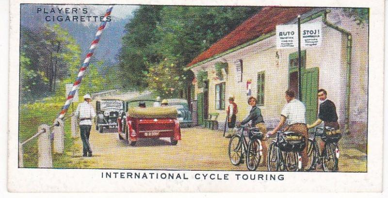 Cigarette Cards Players CYCLING No 42 International Cycle Touring