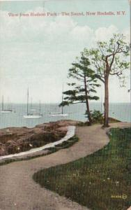 New York New Rochelle The Sound View From Hudson Park 1909