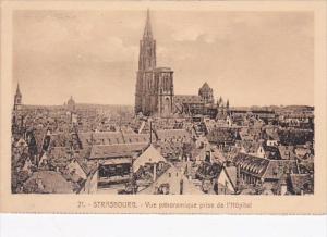 France Strasbourg Vue panoramique prise de l'Hopital