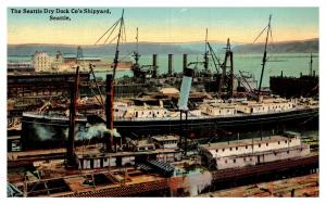 Washington Seattle Dry Dock Company's Shipyard