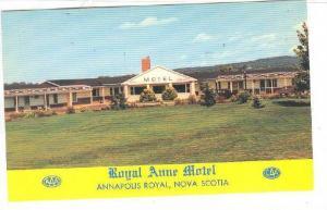 Royal Anne Motel , Annapolis Royal , Nova Scotia , Canada , 40-60s