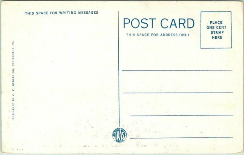 1930s ZELIENOPLE, Pennsylvania Postcard OLD PEOPLE'S HOME House View Unused