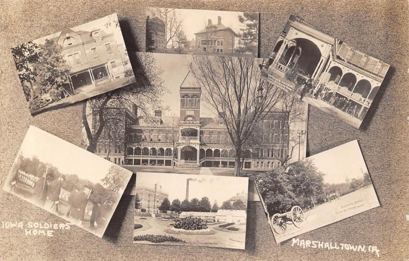Marshalltown Iowa~Civil War Soldiers Home~Old Veterans~Multi Mini View~1912 RPPC