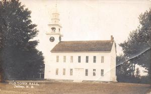 Jaffrey New Hampshire~Old Town Hall~Clock Tower~1920s Real Photo Postcard~RPPC