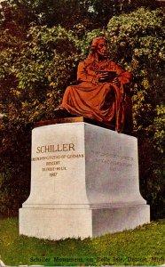 Michigan Detroit Belle Isle Schiller Monument 1916