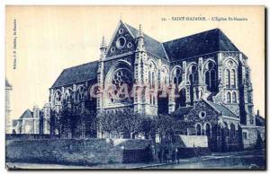 Postcard Old Saint Nazaire L Eglise St Nazaire