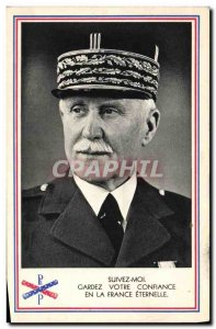 Postcard Old Army Petain