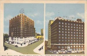 Norton Palmer Hotel and Prince Edward Hotel, Windsor, Ontario, Canada, PU-1948