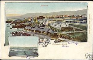 peru, MOLLENDO, Puerto, Poblacion (ca. 1899)