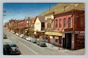 Virginia City NV, Saloon, Cafe, Delta Saloon, Chrome Nevada Postcard