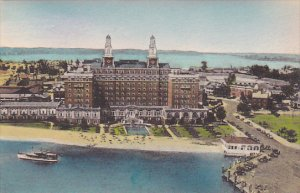 Virginia Old Point Comfort Aerial View Hotel Chamberlin Albertype