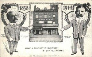 Washington DC Shoomaker's Store Penna Ave Storefront 1914 Postcard