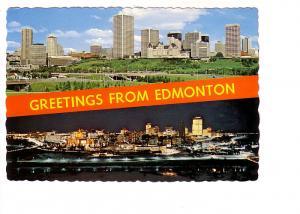 Twoview, Skyline Day and Night, Greetings from Edmonton, Alberta,