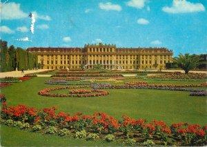 Postcard Austria Vienna Schonbrunn Castle and Flower Parterre