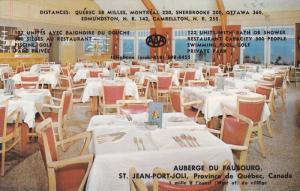 Interior- Restaurant, Auberge Du Faubourg, St. Jean-Port-Joli, Province De Qu...