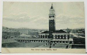 Seattle Washington New Union Depot udb Postcard I7