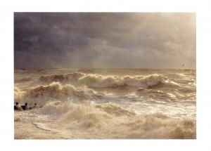 Postcard Silty Spume 1 by Adrian Peacock, Rough Sea, Stormy D79