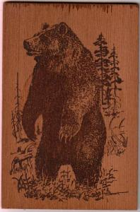 Wooden Card - Big Bear