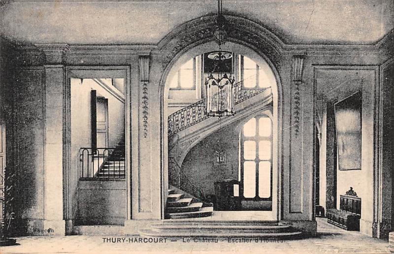 France Thury Harcourt Le Chateau Escalier Castle Schloss / HipPostcard