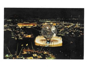 New York World's Fair Unisphere in the Fountain of the Continents at Night
