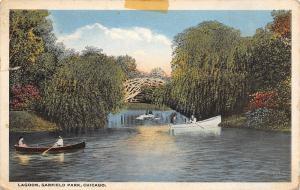 Chicago Illinois~Lagoon Garfield Park~1916 Postcard