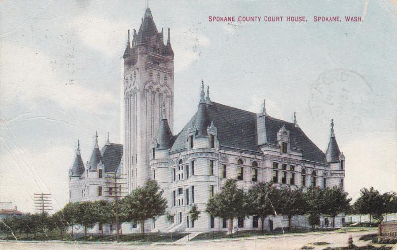 SPOKANE, Washington, PU-1910; Spokane County Court House
