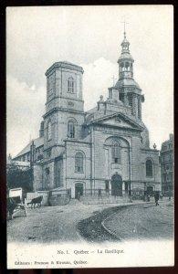 h2125 - QUEBEC CITY Postcard 1907 La Basilique by Pruneau & Kirouac