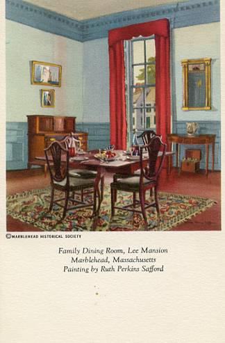 MA - Marblehead, Lee Mansion Family Dining Room (Painting By Ruth Perkins Saf...