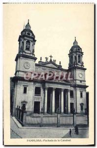 Old Postcard Pamplona Fachada de la Catedral