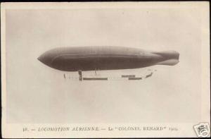 Zeppelin, Airship Colonel Renard (ca. 1910) RPPC