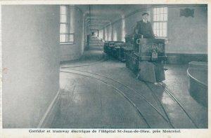 MONTREAL , Quebec , 1910s ; Hopital St-Jean-de-Dieu , Miniature Train / Tram