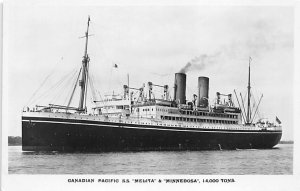 SS Melita Minnedosa Canadian Pacific Ship Unused