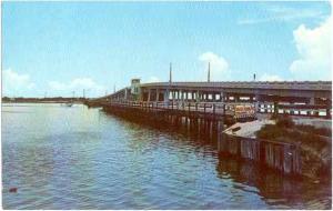 Anger's Fishing Bridge, Englewood, Florida, FL, 1972 Chrome