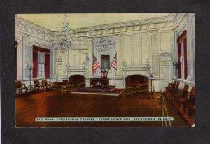 PA Declaration of Independence Hall Philadelphia Pennsylvania Linen Postcard