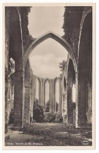 RPPC Sweden Visby St. Nicolaus Church Ruins Real Photo