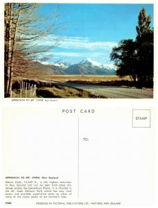 NEW ZEALAND Postcard Approach to MT. Cook (PC6)