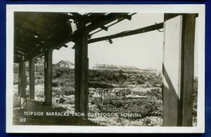 Topside Barracks Corregidor Hospital Philippine Islands Real Photo Postcard