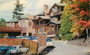 Autos Entrance Lake Placid Club New York Page Roberts 1950s Postcard 6920