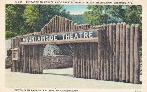North Carolina Cherokee Mountainside Theatre Entrance Qaulla Indian Res sk3189