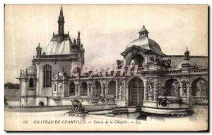 Old Postcard Chateau de Chantilly Chapel Entrance