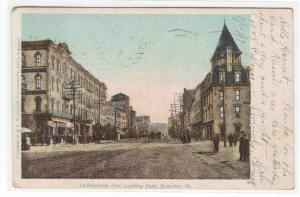 Lackawanna Avenue Scranton Pennsylvania 1907 postcard
