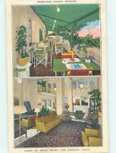 Linen SAVOY HOTEL DINING TERRACE RESTAURANT Los Angeles California CA hs4946