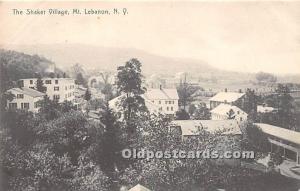 Old Vintage Shaker Post Card The  Village Mount Lebanon, New York, NY, USA 1908