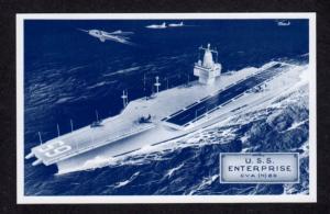 USS Enterprise CVA N 65 Aircraft Carrier Ship Navy Naval Warship Postcard PC