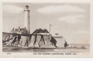 RP: LIGHTHOUSE , Cap des Rosiers, GASPE , Quebec , Canada , PU-1952